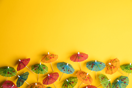 Cocktail umbrella summertime background Stockfoto