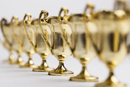 Gouden winnaars prestatie trofee achtergrond