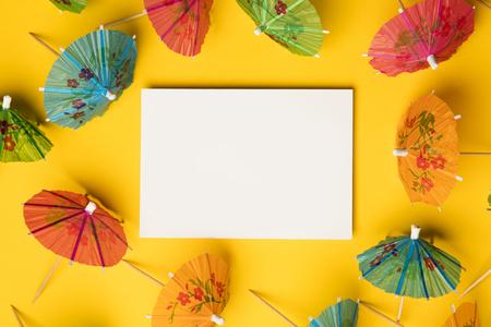 Cocktail umbrella summertime background Reklamní fotografie