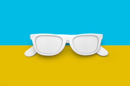 Summer sunglasses bright holiday background. 3D rendering