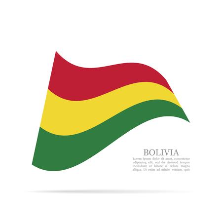 Bolivia national flag waving icon.