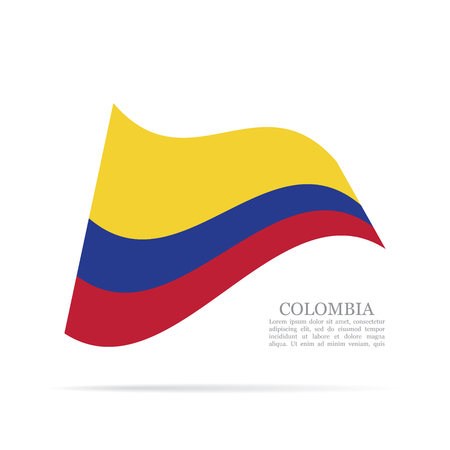Colombia national flag waving icon.