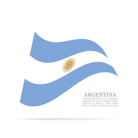 Argentina national flag waving icon illustration.  イラスト・ベクター素材