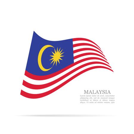 Malaysia national flag waving icon. Illustration