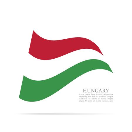 Hungary national flag waving icon.