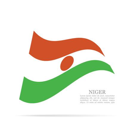 Niger national flag waving icon.