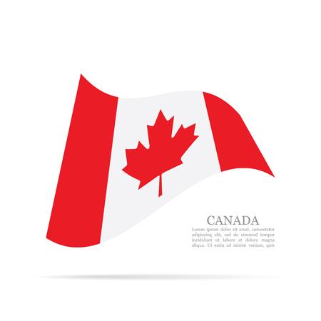 Canada national flag waving icon illustration.