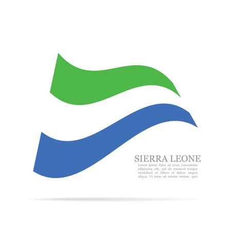 Sierra Leone national flag waving icon illustration. Illustration