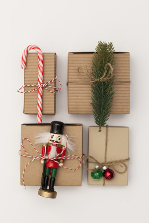 Seasonal festive christmas present boxes