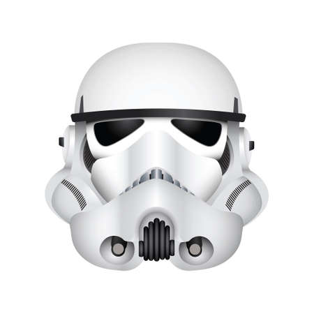 LONDON, UK - December 27th 2017: vector illustration of a Stormtrooper character from the Star Wars film franchise.