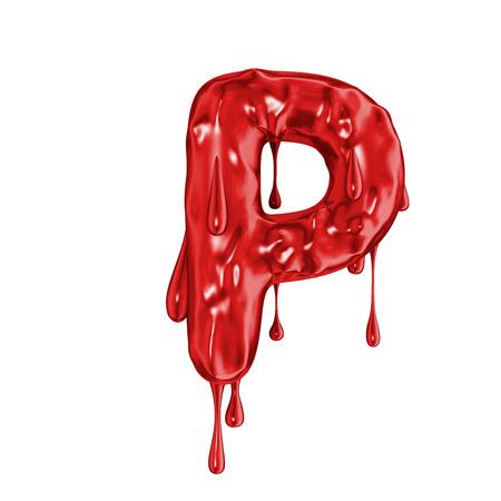 Blutschrift Halloween Horror Buchstabe P Standard-Bild - 92827968