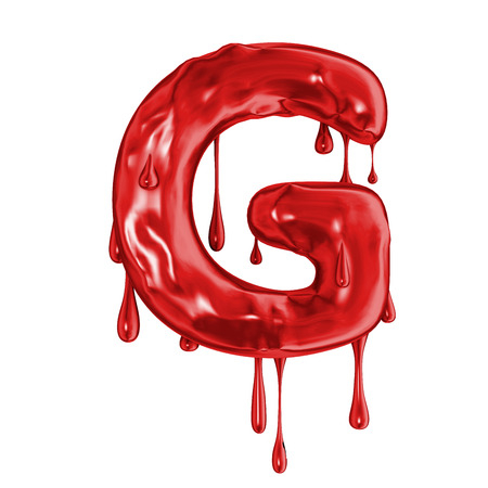 Blood font halloween horror letter G Stock fotó