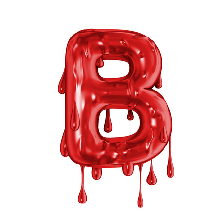 Blood font halloween horror letter B