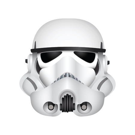 LONDON, UK - December 27th 2017: Illustration of a Stormtrooper character from the Star Wars film franchise