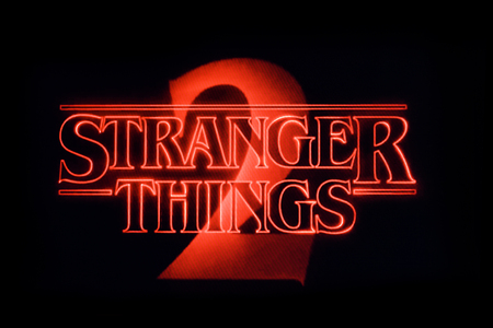 LONDON, UK - OCTOBER 26th 2017: Stranger things title logo photographed on a computer screen. Editorial