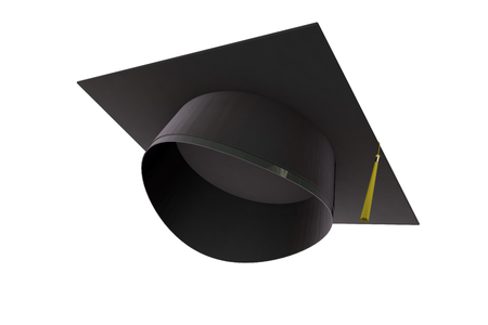 Graduation cap. education and academic concept. 3D Rendering 写真素材