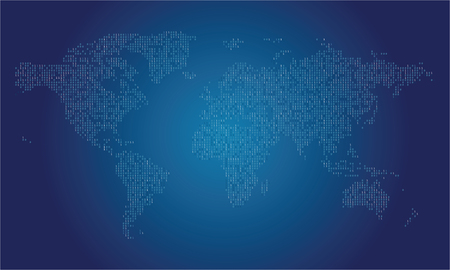 World map made from binary data code royalty free cliparts vectors vector world map made from binary data code gumiabroncs Image collections