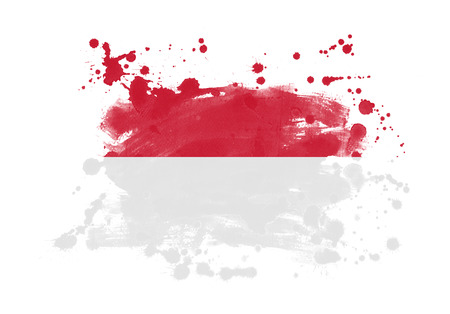 Indonesia flag grunge painted background