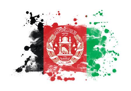 아프가니스탄 플래그 grunge 페인트 배경 스톡 콘텐츠