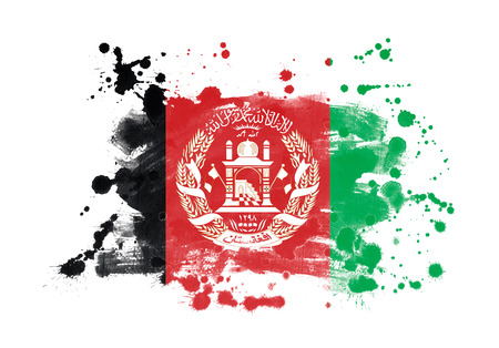 Afghanistan flag grunge painted background