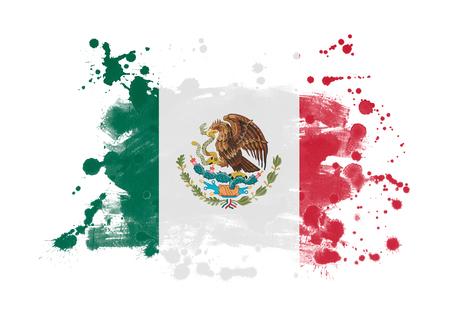 Mexico vlag grunge geschilderde achtergrond