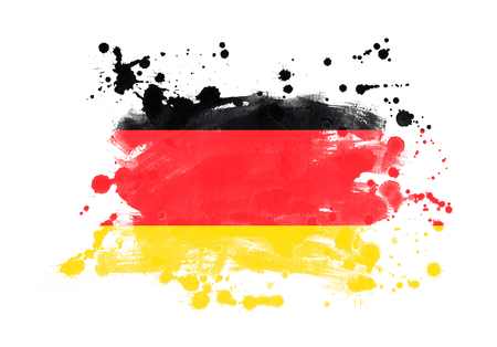 Germany flag grunge painted background