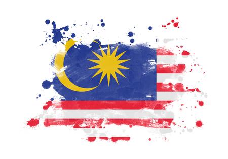 Malaysia flag grunge painted background Stock Photo