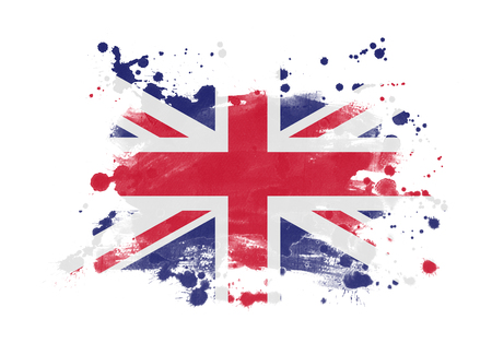 United Kingdom flag grunge painted background Banque d'images