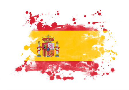 Spain flag grunge painted background