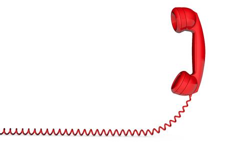 Retro telephone handset receiver 3D rendering Imagens - 92950875
