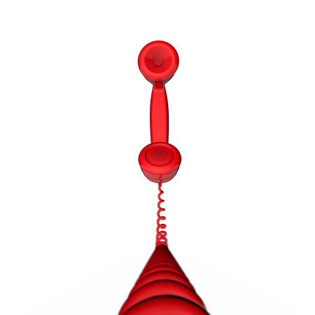 Retro telephone handset receiver 3D rendering