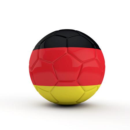 Germany flag soccer football against a plain white background. 3D Rendering