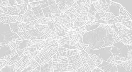 Urban vector city map of Edinburgh, Scotland Illustration