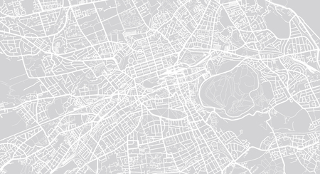 Urban vector city map of Edinburgh, Scotland Vettoriali