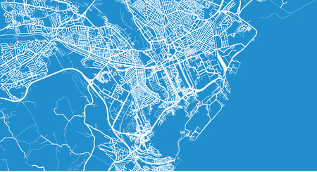 Urban vector city map of Cardiff, Wales Illustration