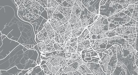 Urban vector city map of Bristol, England