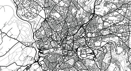 Urban vector city map of Bristol, England