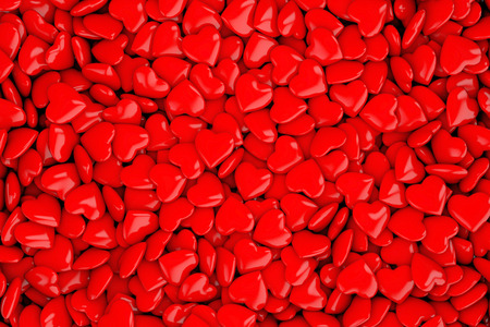 Collection of red love hearts background Stock Photo