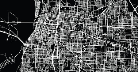 Urban vector city map of Memphis, Tennessee, USA. Illustration