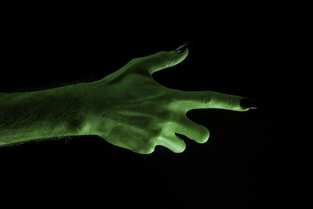 Halloween green witches or zombie monster hand Banco de Imagens