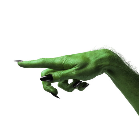 Halloween green witches or zombie monster hand Imagens