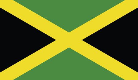 자메이카 국기. 일러스트