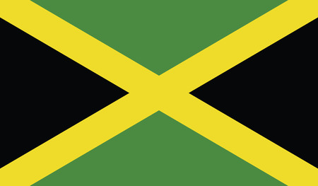Nationale vlag van Jamaica. Stock Illustratie