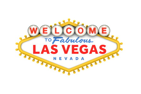 Welcome to Las Vegas classic sign. 3D Rendering