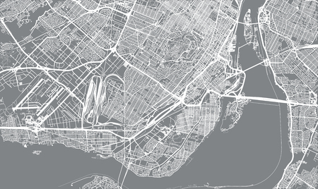 Urban vector city map of Montreal, Canada