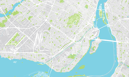 몬트리올, 캐나다의 도시 벡터 도시지도