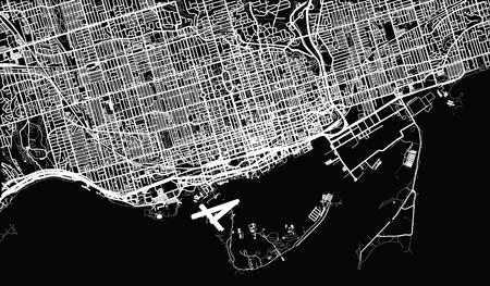 カナダ、トロントの都市ベクター都市地図 写真素材 - 94910614