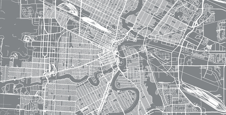 Urban vector city map of Winnipeg, Canada Reklamní fotografie
