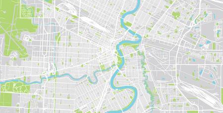 Urban vector city map of Winnipeg, Canada Stock Photo