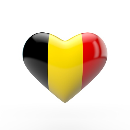 Belgium heart flag. 3D rendering Stock Photo